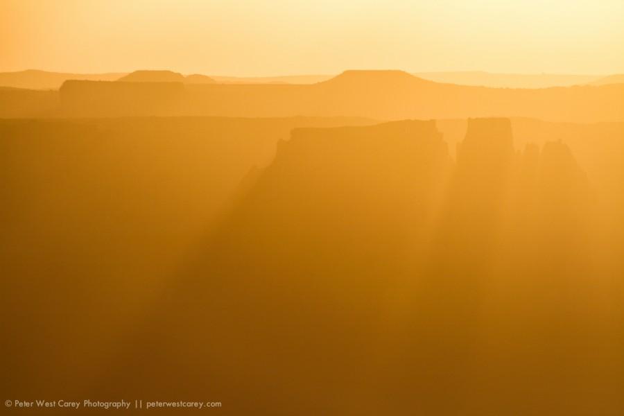 Distant Buttes, Canyonlands National Park, Utah, USA