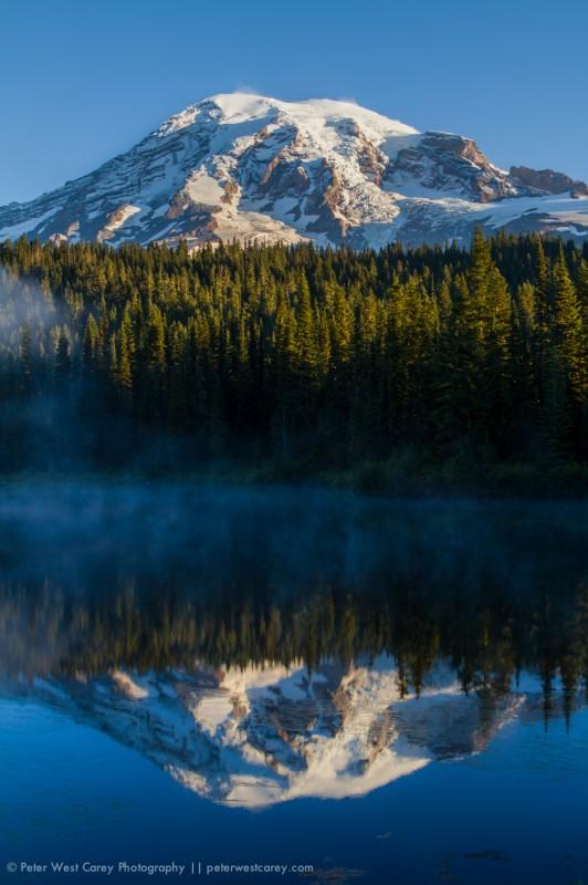 Mount Rainier And Reflection Lakes, Washington, USA