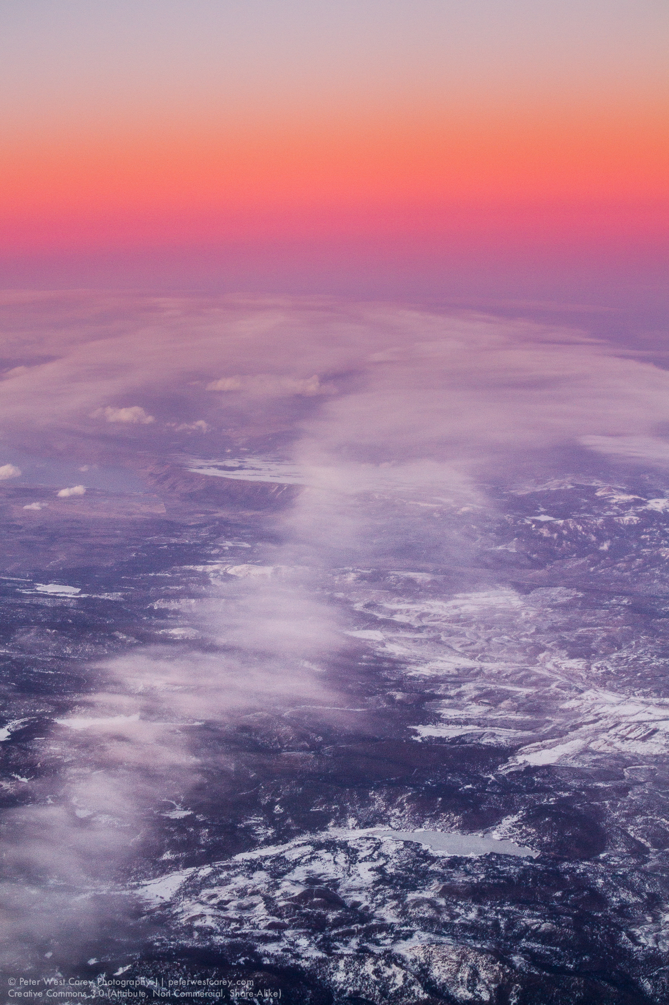 After Sunset From 39,000', California, USA, North America