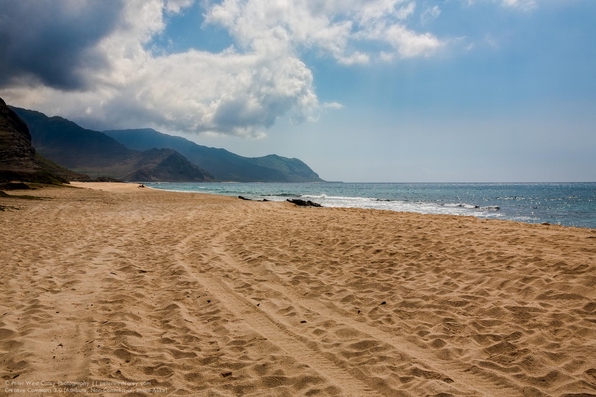 Nearly Deserted Beach, Oahu, Hawaii, USA