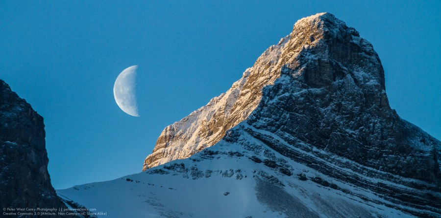 Moon And The Rockies